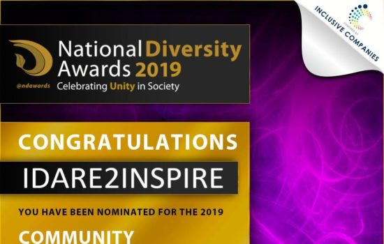 National Diversity Awards 2019 - IDare2Inpsire
